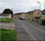 ST3091 : Neighbourhood Watch Area sign on a Davy Close lamppost, Malpas, Newport by Jaggery