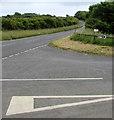 SS0698 : Bier Cross junction, Manorbier by Jaggery