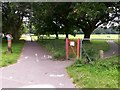SZ0794 : Ensbury Park: the start of footpath N09 by Chris Downer