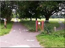 SZ0794 : Ensbury Park: the start of footpath N09 by Chris Downer