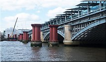 TQ3180 : Blackfriars Railway Bridge by Julian Osley