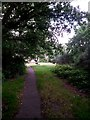 SZ0895 : Redhill: the top of footpath O24 by Chris Downer