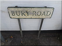 TL9979 : Bury Road sign by Adrian Cable