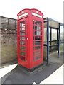 TL9978 : Telephone Box on the B1111 Bury Road by Adrian Cable
