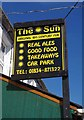SN0801 : The Sun (2) - sign, St. Florence, Pembs by P L Chadwick
