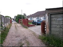 SZ0995 : Moordown: passing 12 Priory View Place by Chris Downer