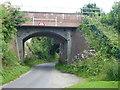 SU1559 : Railway bridge over Sharcott Drove near Pewsey by Richard Humphrey