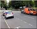 ST3087 : Orange van in Waterloo Road, Newport by Jaggery