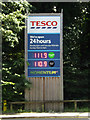 TL8884 : Tesco Fuel Price sign by Adrian Cable