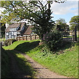 SO6031 : Black and white cottage, Brockhampton by Jaggery