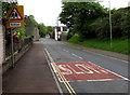 SO6303 : Warning sign - school, Bream Road, Lydney by Jaggery
