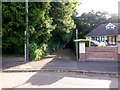 SZ1093 : Charminster: footpath K03 from Burnham Drive by Chris Downer