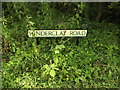 TM0177 : Hinderclay Road sign by Adrian Cable
