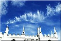 TQ1572 : View of cirrus clouds above Strawberry Hill House by Robert Lamb