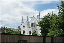 TQ1572 : View of the rear of Strawberry Hill House from outside the toilet block by Robert Lamb