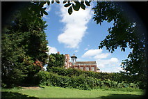 TQ1672 : View of Radnor House Independent School from the riverside path by the Thames in Radnor Gardens #2 by Robert Lamb