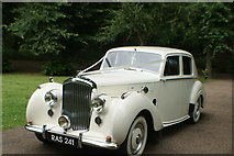 TQ1773 : View of a 1951 Bentley Mark 6 parked up for a wedding at Orleans House #2 by Robert Lamb