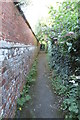 SP6529 : Footpath to Pound Lane by Philip Jeffrey