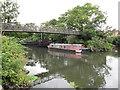 TQ1777 : Gilgie, narrowboat at Brentford by David Hawgood