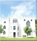 TQ1572 : View of Strawberry Hill House from the grounds #4 by Robert Lamb