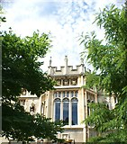 TQ1572 : Looking up at Strawberry Hill House from the grounds #3 by Robert Lamb