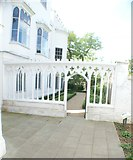 TQ1572 : View into the small garden of Strawberry Hill House #2 by Robert Lamb