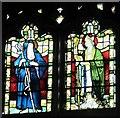 NZ2364 : The Church of St. Matthew, Big Lamp, Summerhill Street, NE4 - stained glass window by Mike Quinn