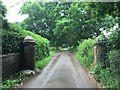 SJ8342 : Butterton: old gateposts on Park Road by Jonathan Hutchins