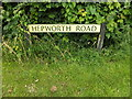 TL9877 : Hepworth Road sign by Adrian Cable