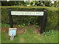 TL9877 : Ponds End Lane sign by Adrian Cable