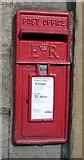 SE0125 : Close up, Elizabeth II postbox, Mytholmroyd Old Railway Station building by JThomas