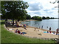 SU0295 : Artificial beach, Cotswold Country Park & Beach by Vieve Forward
