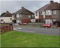 ST3487 : Liswerry Road semis,  Newport by Jaggery