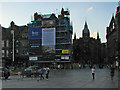 SK5739 : Scaffolding round Queen's Chambers by John Sutton