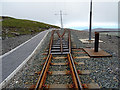 SC3987 : The point at summit station by John Lucas