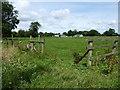 SU0497 : Public footpath and stile near Cross Roads Farm by Vieve Forward