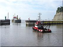 ST1972 : Sospan Dau and Tioga B at the Cardiff Bay breakwater by Gareth James