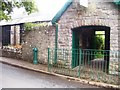 SS0697 : Manorbier Water Hydrant and Old Bier House by welshbabe