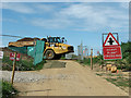 TG2614 : Dumper truck crossing farm track by Evelyn Simak