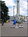 SU4112 : Tooly McTool and Civic Centre Clock Tower, Southampton by David Dixon