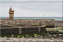 SS7249 : Lynmouth breakwaters and the Rhenish Tower by Oliver Mills