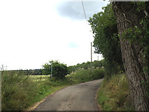 TL2012 : Cromer Hyde Lane & footpath by Adrian Cable