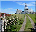 SS1495 : Grade II listed Caldey Island lighthouse by Jaggery