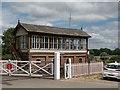 TL0997 : Signal Box, Wansford Station, Cambridgeshire by Christine Matthews