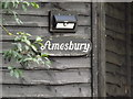 TL1916 : Amesbury sign by Adrian Cable