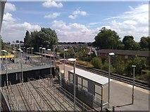 SJ8195 : Old Trafford metro station by Richard Hoare