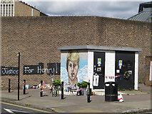 TQ3084 : Mural/protest, Pentonville by Paul Harrop