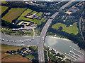 SU4910 : M27 Motorway Crossing the River Hamble by David Dixon