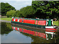 SK2928 : Moored narrowboat at Willington in Derbyshire by Roger  Kidd