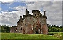 NY0265 : Caerlaverock Castle by Michael Garlick